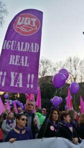 dia 8 en Madrid Igualdad Real YA..